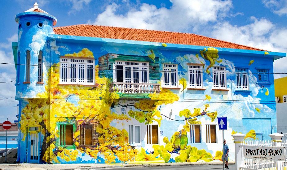 Curacao muurschildering