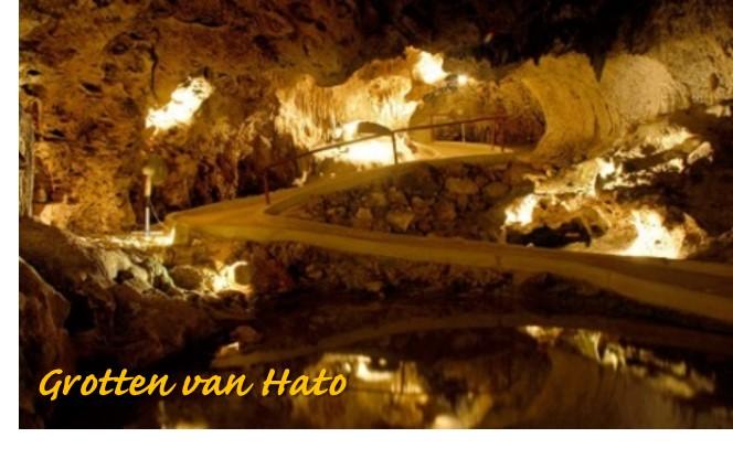 Spannend! Wie durft er in de donkere grotten van Hato te lopen?